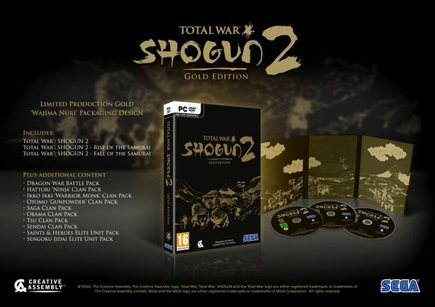 Total War Shogun 2- gold edition