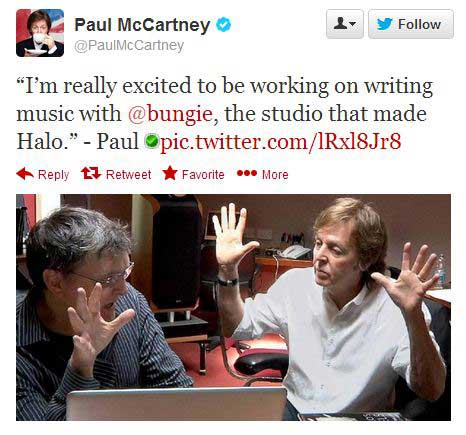 Paul-McCartney-working-with-Bungie