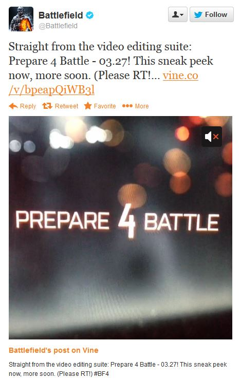 EA teases Battlefield 4
