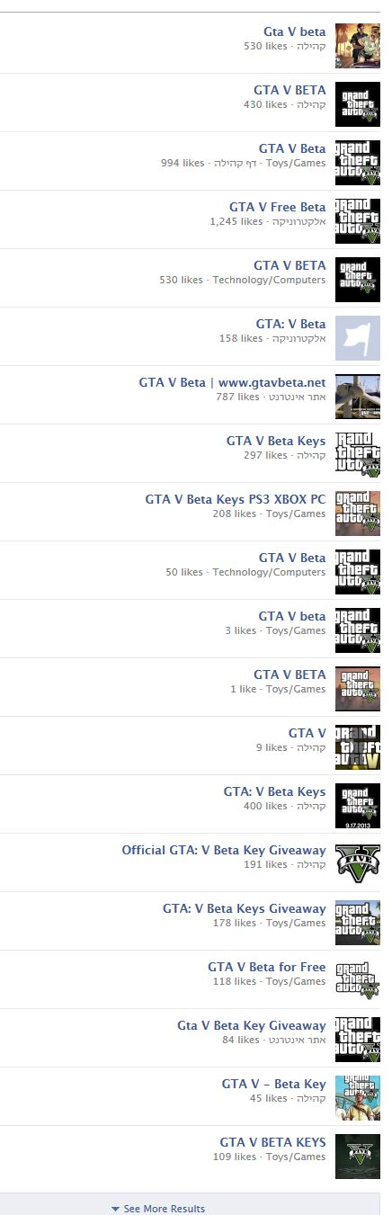 GTA V BETA SCAM FACEBOOK